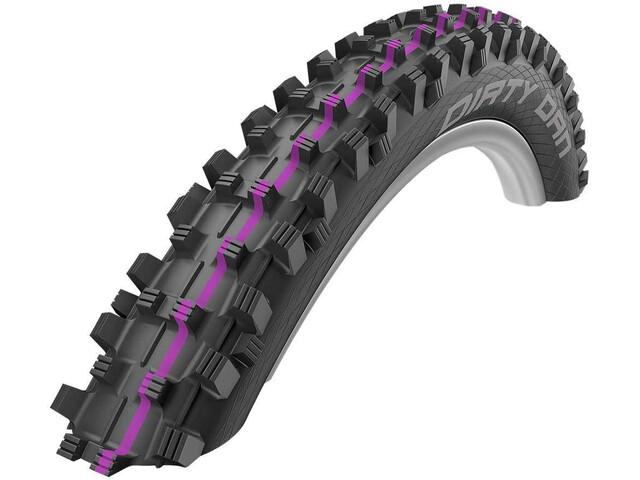 "SCHWALBE Dirty Dan Super Gravity Evolution Folding Tyre 27.5x2.35"" TLE Addix Ultra Soft, black"